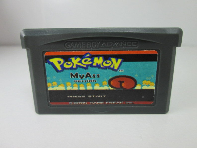 Pokemon My Ass fan made hack GBA rated T or M