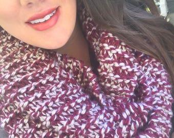 Multicolor infinity scarf.  Color: Grizzles