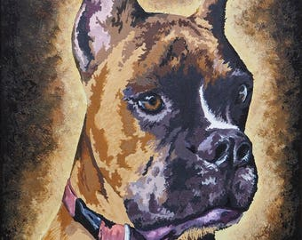 Med. painting of your pet, hand painted in acrylic on canvas, based on your photo. 1 pet only.