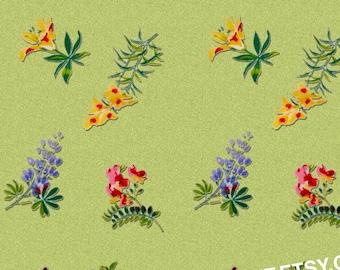 5 Designs Vintage Kitchen Fun Flower Print Instant Download Digital Sheet For Artwork, Collage, Journals, Scrapbooking, Paper Crafting