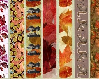 18 Patterns Harvest Patterns Washi-Style Instant Download Digital For Artwork, Collage, Journals, Scrapbooking, Paper Crafting