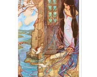 Sticker Of Florence Harrison Tennyson Dreams Illustration
