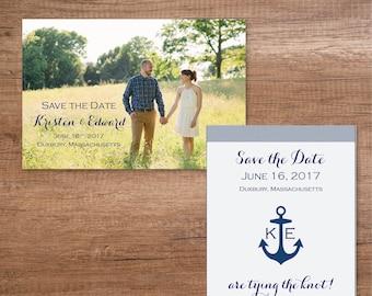 Custom Save the Date Postcard- Nautical