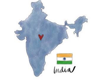 India Map Keychain Copper India Keychain Adoption India shape Pendant India Travel Map Indian Jewelry