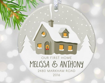 1st First Home Christmas Ornament Couples Housewarming Present Realtor Closing Gift from Realtor Moving In Together Gift Moving House Gift