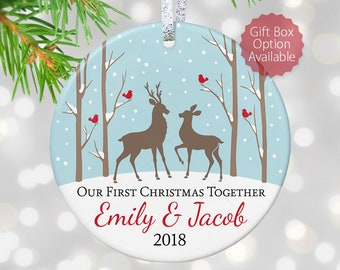 1st first anniversary gift for boyfriend gift for boyfriend first christmas together ornament one year together boyfriend christmas gift