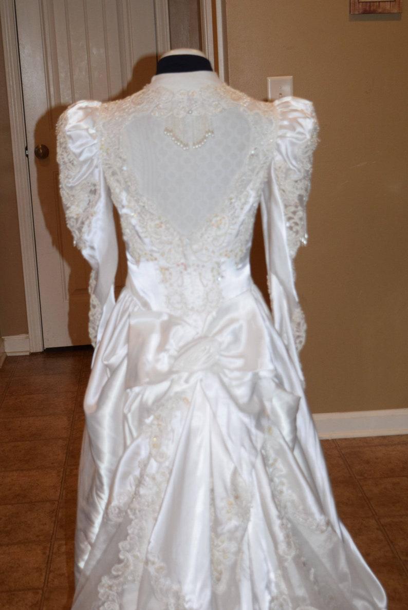 161f457d42312 Alfred Angelo Wedding Dress Vintage satin long train long | Etsy
