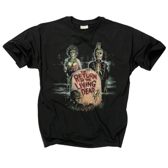 1985 Return of the Living Dead shirt - Vintage ROTLD More Brains T-shirt - Zombie Screen Stars dt910yaBln