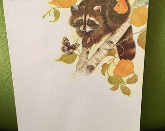 Current inc etsy vintage 1980 notes n reminders raccoon dry erase boardraccoons roost message board current incraccoon in a tree with butterfly design m4hsunfo