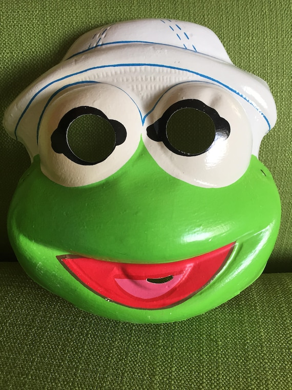 vintage 80s ben cooper halloween muppets baby kermit mask and etsy