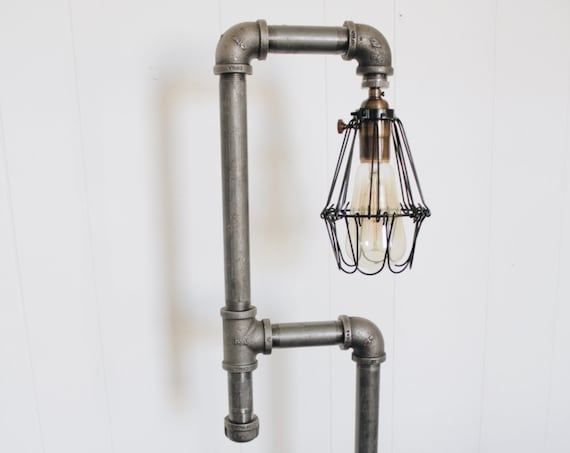 Iron Pipe Floor Lamp