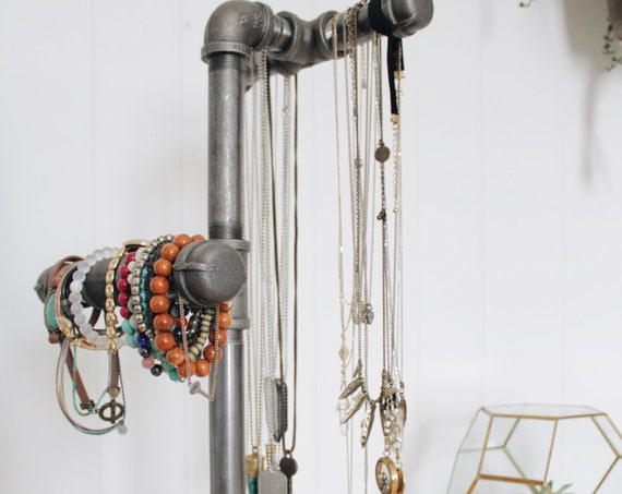 Iron Pipe Jewelry Stand