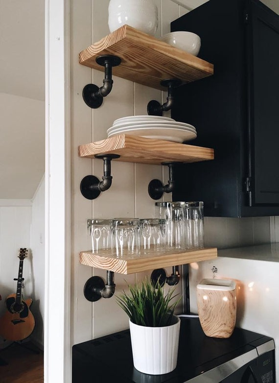 Iron Pipe Open Shelving