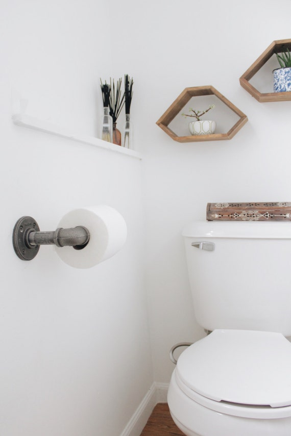 Iron Pipe Toilet Paper Holder
