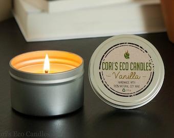 Vanilla tins soy candles - Tins soy candles handame -Soy Candles -Natural soy candles handmade - soy scented candles - Candles - soy candle