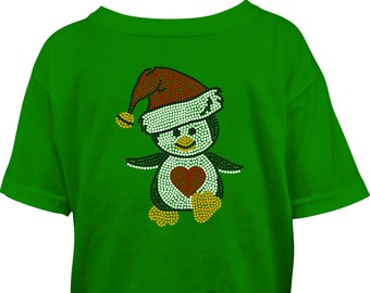 Penguin Rhinestone Tshirt