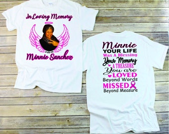 c40c13a0 In Loving Memory tshirt RIP Shirt, Angel Shirt Daughter, Mom, Dad, Grief  shirt Personalized Memorial Service Shirts