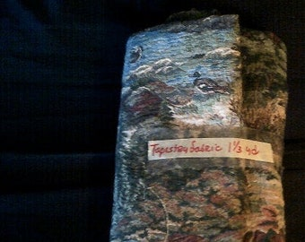 Vintage Tapestry Fabric or Gobelin 1  1/4 Yard