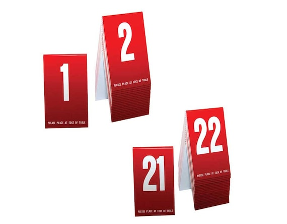 Green w// white number Tent style Free shipping Plastic Table Numbers 1-40