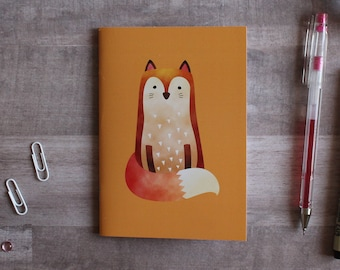 NOTEPAD. A6 Cute Fox Notepad. Soft 300 gsm Card Cover. 40 blank pages. Matte lamination pleasant to the touch.