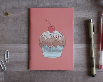 NOTEPAD. A6 Cute Muffin Notepad. Soft 300 gsm Card Cover. 40 blank pages. Matte lamination pleasant to the touch.