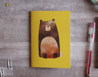 NOTEPAD. A6 Cute Bear Notepad. Soft 300 gsm Card Cover. 40 blank pages. Matte lamination pleasant to the touch.