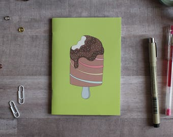 NOTEPAD. A6 Cute Ice Cream Notepad. Soft 300 gsm Card Cover. 40 blank pages. Matte lamination pleasant to the touch.