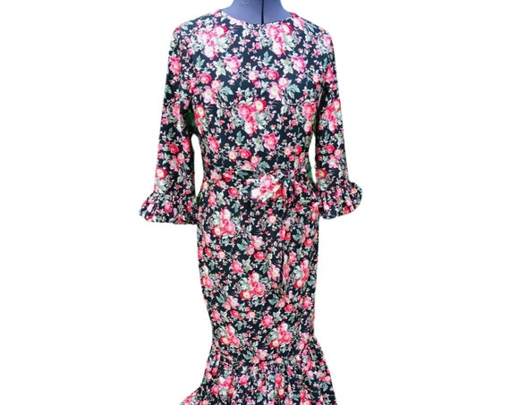 Vintage Dress | Floral Dress | Maxi Dress | 1970s Dress | Dresses|  Lounge Wear |  Dress