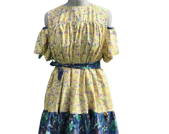Women's Dress | Floral Dress | Midi Dress | Contemporary  Dress | Dresses|  Lounge Wear |  Handmade Dress