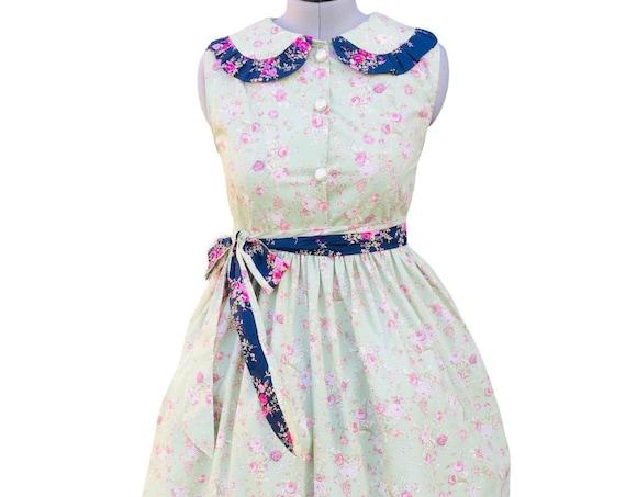 Vintage Dress | Cotton Dress | Dresses | Shirt Dress | Midi Dress