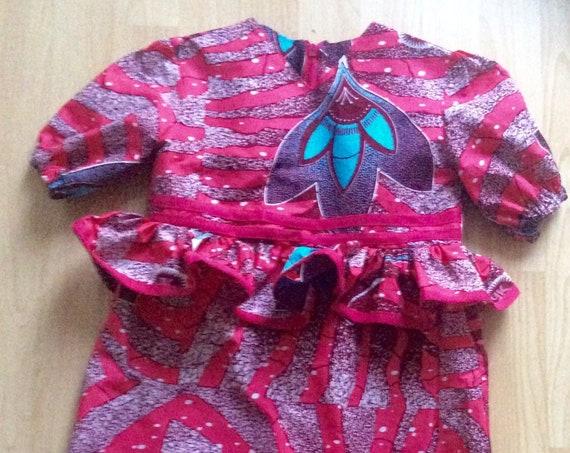 Ankara Dress for Little Girls/ Dutch wax Dress/Jupe Wax Dress
