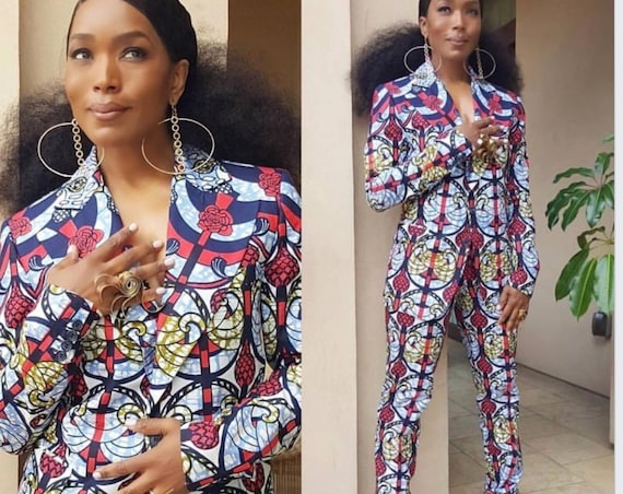 Ankara Blazer and Trousers, Celebrity Inspired Fashion