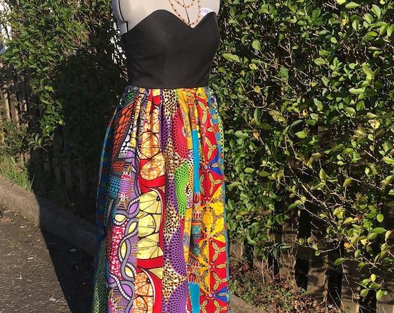 Ankara Sweetheart Bodice Dress