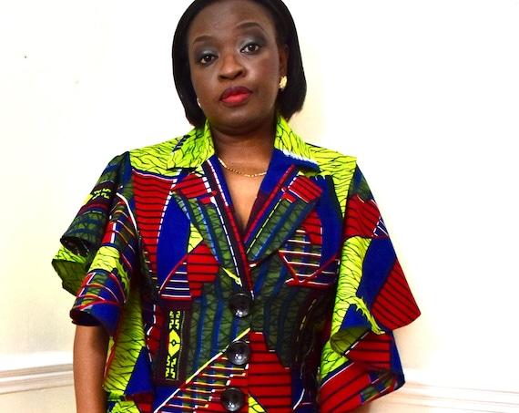 African Print Trouser Suit