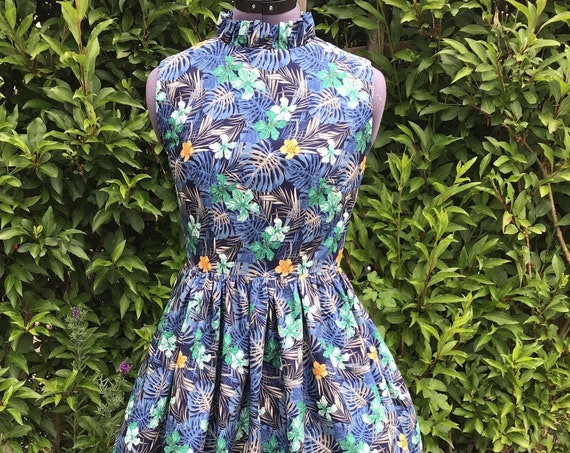 Vintage Dress| Summer Dress | Midi Dress | Cotton Dress | Floral Dress