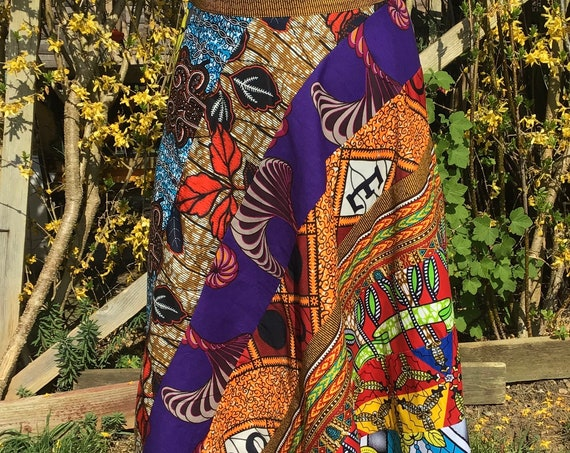 Ankara Patchwork Skirt