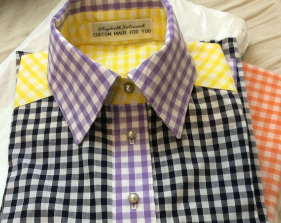 Ladies Shirt in Mix and Match checks