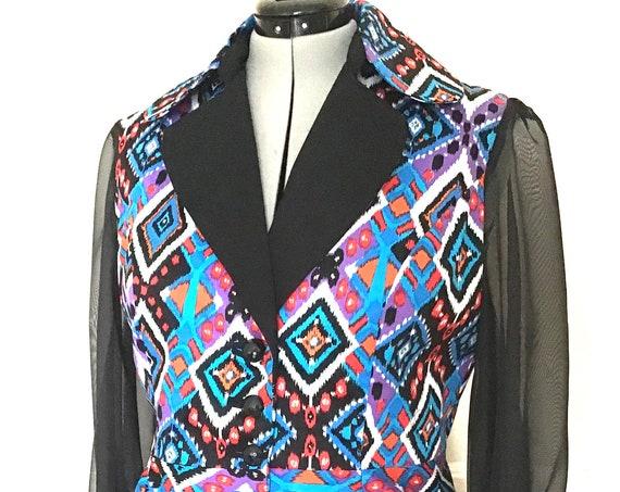Ladies Jacket in Tribal Print