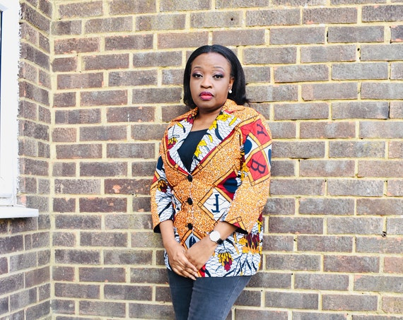 "African Print Blazer/Jacket/Blazer in Ankara ""Lola"""