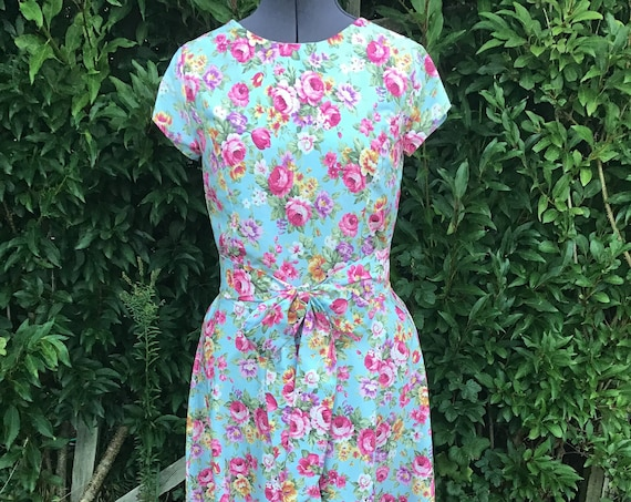 Vintage Dress | Cotton Dress | Floral Dress | Vintage Reproduction
