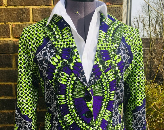 African Print Jacket/Jacket/Blazer in Ankara/Ladies Jacket in African Print/Ankara Jacket