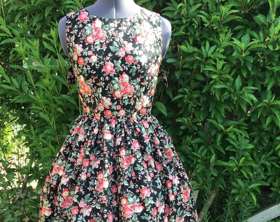 "Vintage Inspired Midi Dress ""Dianthus"""