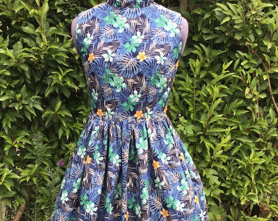 Vintage Dress| Summer Dress | Midi Dress | Sleeveless Dress | Floral Dress