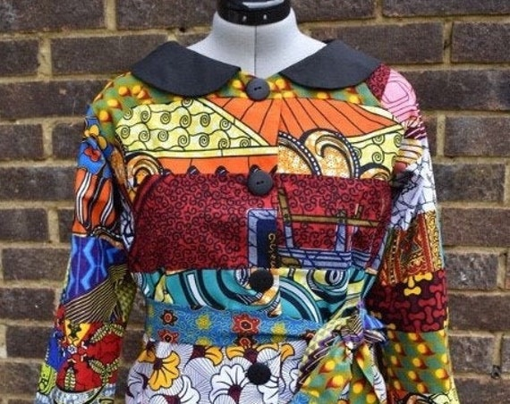 Ankara Jacket/ African Print Jacket / African Print Patchwork/Women's Clothing /Ladies Jacket