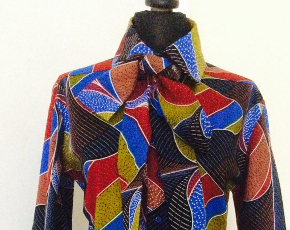 Ankara Dress with shirt collar and button stand/Shirt Dress/Fit and Flare
