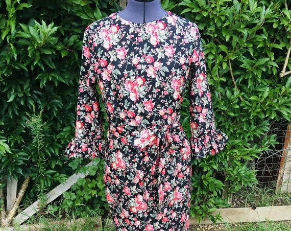 Vintage Dress | Floral Dress | Maxi Dress | 1970s Dress | Dresses|  Lounge Wear |  Dress