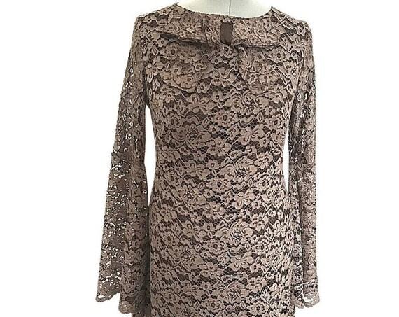 Lace dress | Vintage Dress | 1970s Dress | Party Dress | Cocktail Dress | Custom made Dress