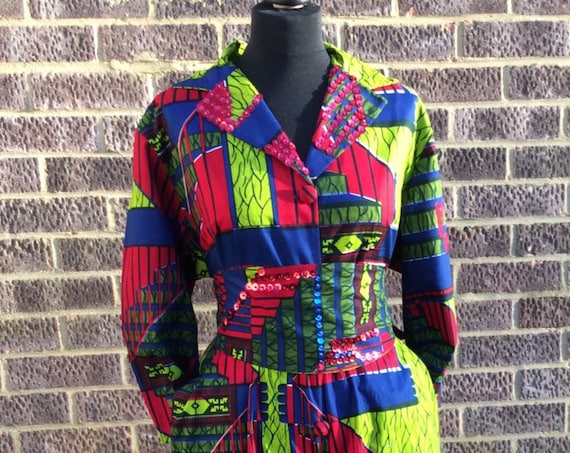 Ankara Jumpsuit with Belt, African Print Jumpsuit