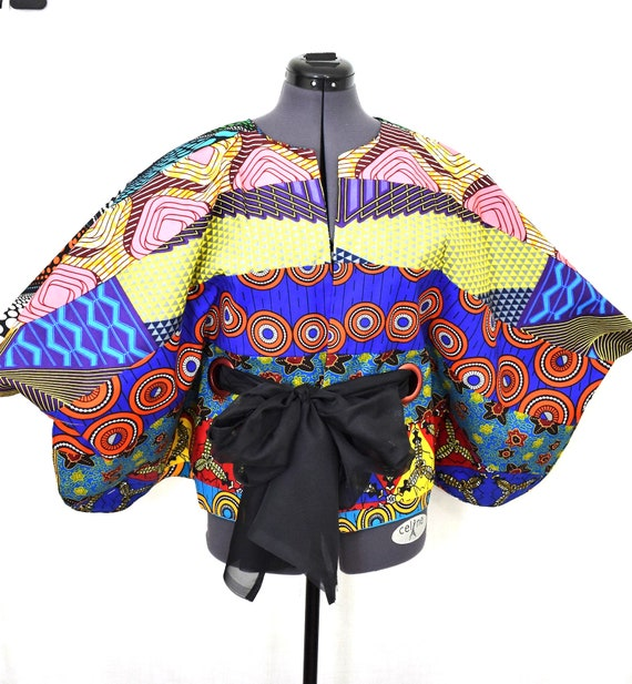Ankara Top/Ankara Cape/Dashiki Top/African Top/Kimono top/African Print Top/Kitenge Top