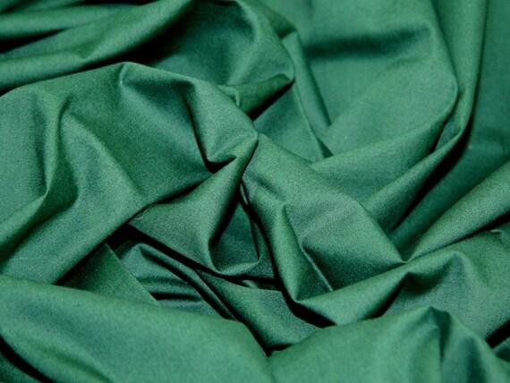 Bottle Green Cotton Fabric